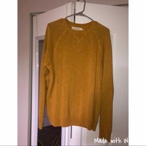 Men's Gold Pullover Sweater